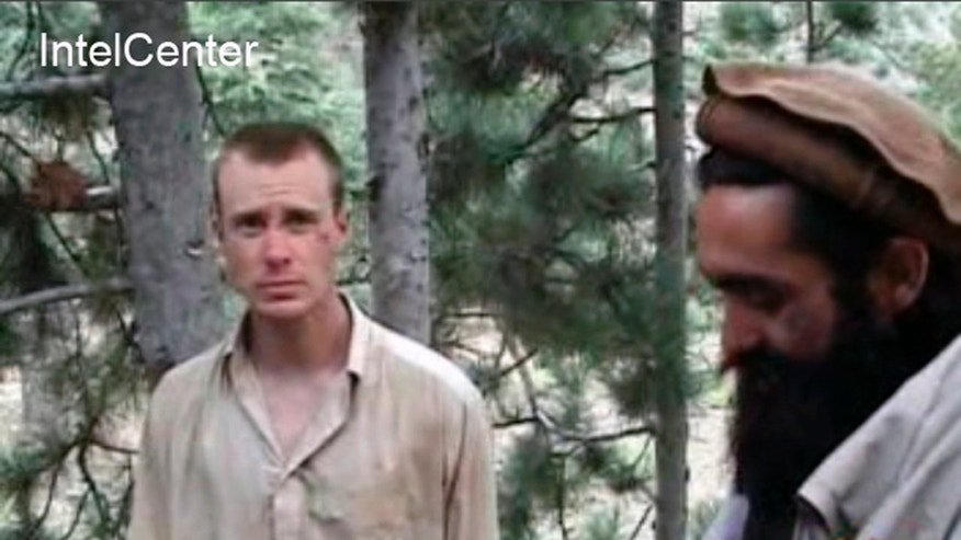 "FILE - This file image provided by IntelCenter on Wednesday Dec. 8, 2010 shows a frame grab from a video released by the Taliban containing footage of a man believed to be Bowe Bergdahl, left. Washington has held indirect talks with the Taliban over the possible transfer of five senior Taliban prisoners from Guantanamo Bay in exchange for a U.S. soldier captured in Afghanistan nearly five years ago, a senior Taliban official told The Associated Press. A U.S. official said the possibility of an exchange is under discussion but would not comment on whether any talks have yet occurred. (AP Photo/IntelCenter, File)  MANDATORY CREDIT: INTELCENTER; NO SALES; EDS NOTE: ""INTELCENTER"" AT LEFT TOP CORNER ADDED BY SOURCE"