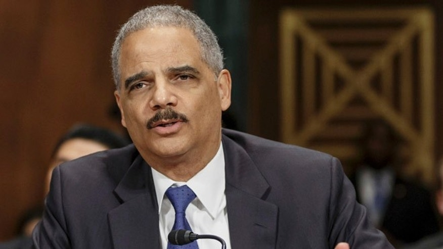 Jan. 29, 2014: In this file photo, Attorney General Eric Holder testifies on Capitol Hill in Washington.