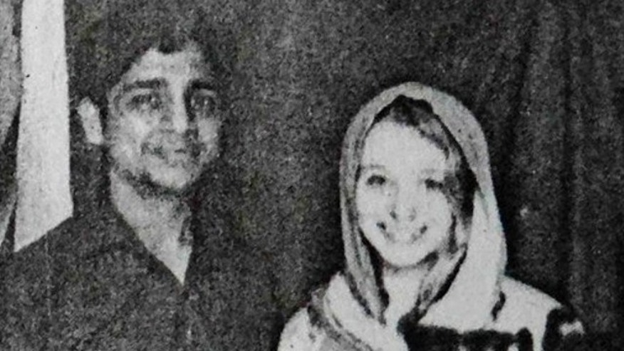 UNDATED: This photo provided by local police, shows Indian man Bunty Sharma and his American wife Erin W. Willinger in Agra, India. Sharma fatally stabbed Willinger before killing himself in Agra, the city that is home to the Taj Mahal and where the couple married in October, police said.