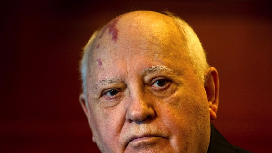 Feb. 24, 2014 - Former Soviet leader Mikhail Gorbachev, 82, at the International Government Communication Forum in Sharjah, United Arab Emirates. Gorbachev said Monday that the political turmoil in Ukraine looks like a real mess but it is important that the country hold together in the battle for influence between Russia and the West.
