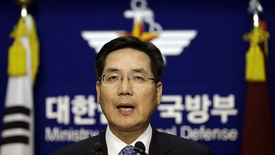 February 25, 2014: South Korean Defense Ministry spokesman Kim Min-seok, pictured in December, said a North Korean warship crossed into the South's waters late Monday. (AP)