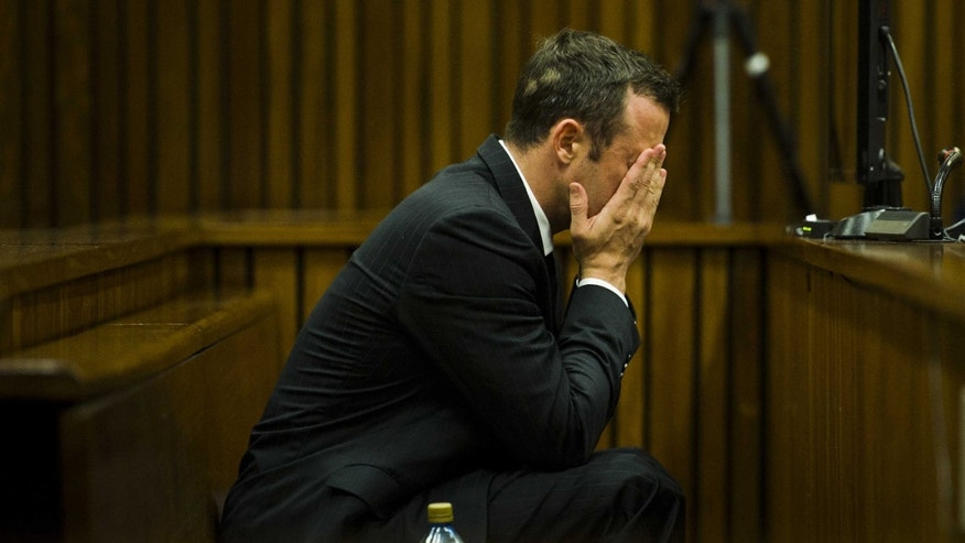 Oscar Pistorius at court in Pretoria, South Africa, Thursday, March 13, 2014.