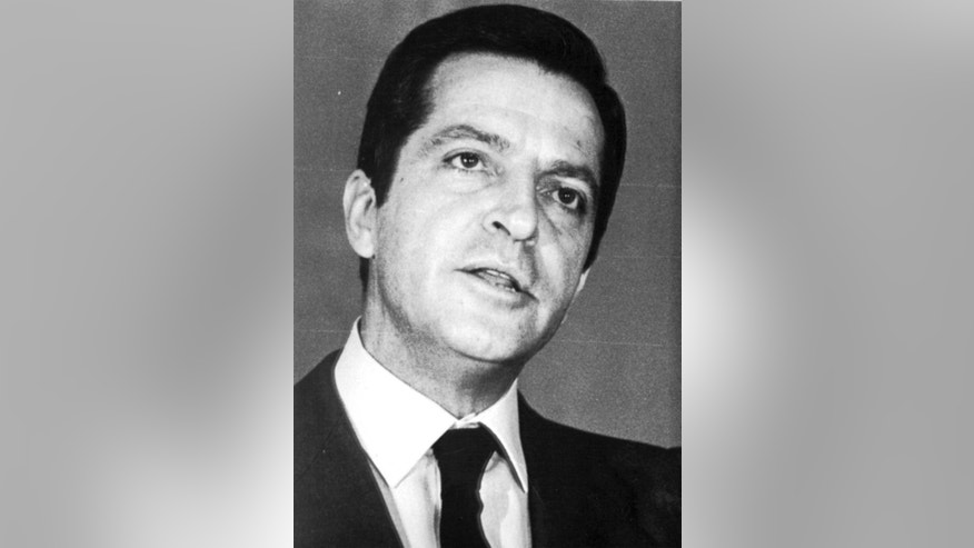 FILE - This is a 1980 file photo of former Prime Minister of Spain  Adolfo Suarez. Suarez  Spain's first democratically-elected prime minister after decades of right-wing rule under Gen. Francisco Franco, died Sunday March 23, 2014. Suarez was 81-years-old. (AP-Photo/File)