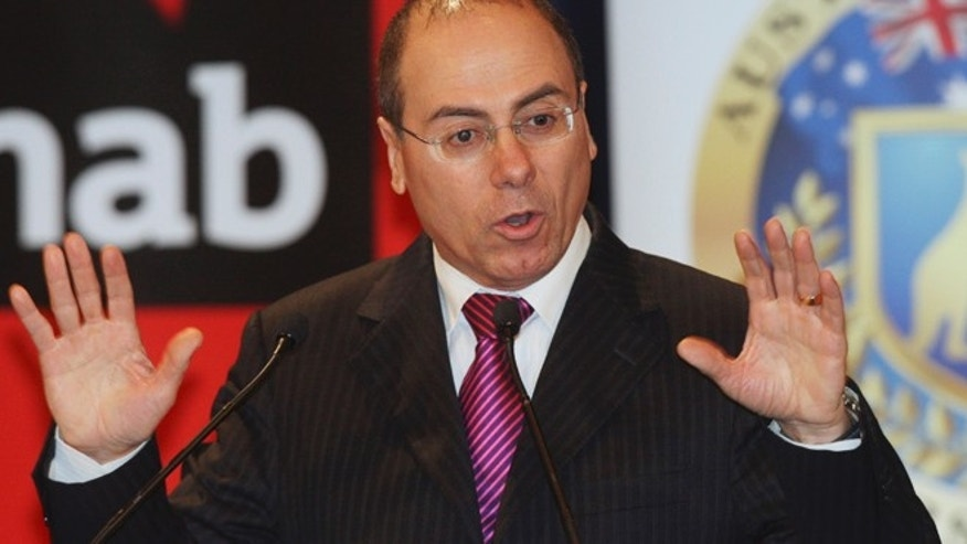 Dec. 3, 2009: In this file photo, Silvan Shalom, vice prime minister of Israel, speaks in Sydney, Australia, speaks during an Australia-Israel Leadership Forum.