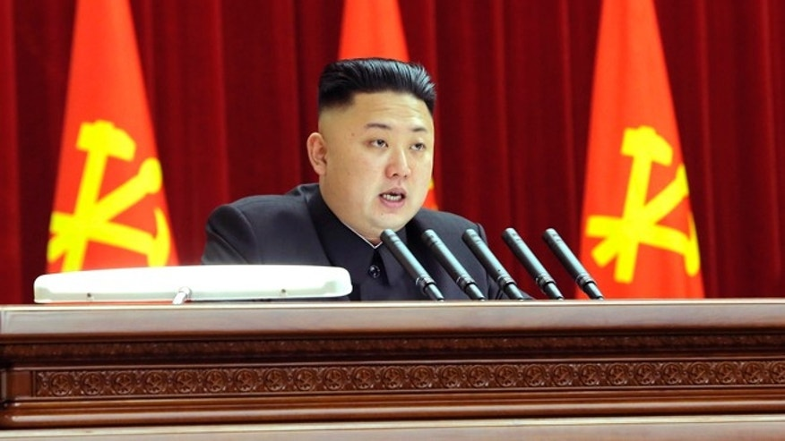 Mar. 31, 2013: North Korean leader Kim Jong-un presides over a plenary meeting of the Central Committee of the Workers' Party of Korea in Pyongyang.