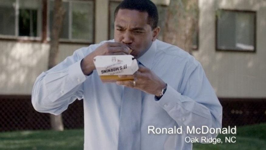 Ronald McDonald of Oak Ridge, N.C., in a Taco Bell commercial.
