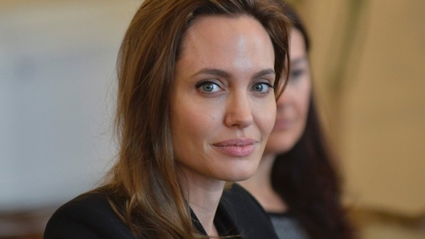 March 28: Angelina Jolie sits for a meeting with members of the Bosnian Presidency and British Foreign Secretary William Hague in Sarajevo.