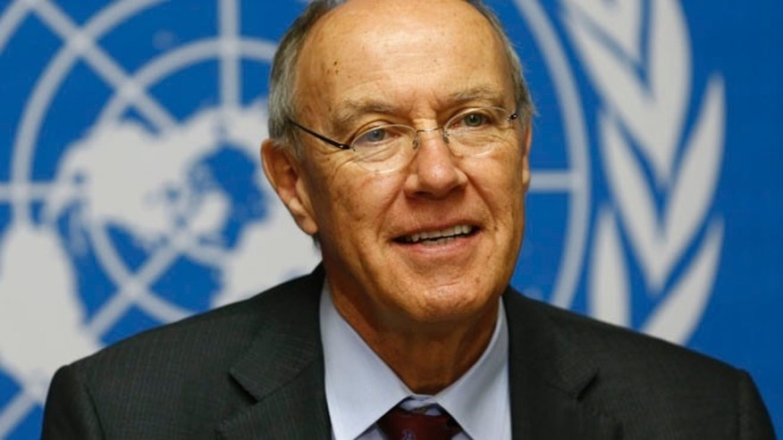FILE 2013: Director-General of World Intellectual Property Organization Francis Gurry at a news conference in Geneva.