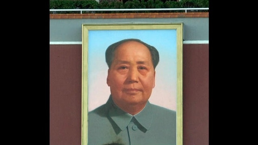 May 12, 2007 - FILE photo of a giant portrait of former Chinese leader Mao Zedong at Tiananmen Square in Beijing.