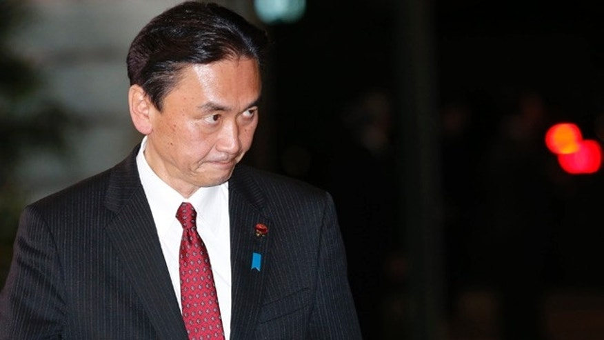 December 26, 2012: Keiji Furuya arrives at the prime minister's official residence in Tokyo. Furuya visited a Tokyo shrine that honors the dead including war criminals Sunday in a gesture that has repeatedly caused friction with Japan's neighbors. The lawmaker, who chairs the National Public Safety Commission, said on his website that he paid respects at the Yasukuni shrine ahead of a festival that starts Monday. (AP Photo/Shizuo Kambayashi, File)