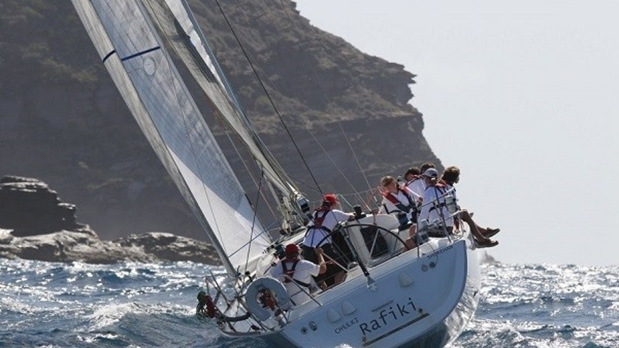 "The crew of the Cheeki Rafiki was returning from Antigua Sailing Week in the Caribbean when the 40-foot vessel started taking on water amid poor weather conditions roughly 1,000 miles east of Cape Cod, Mass., on Thursday. UK charter company Stormforce Coaching said it was ""devastated"" that the search ended without locating the four sailors. (Tim Wright/Antigua Sailing Week)"