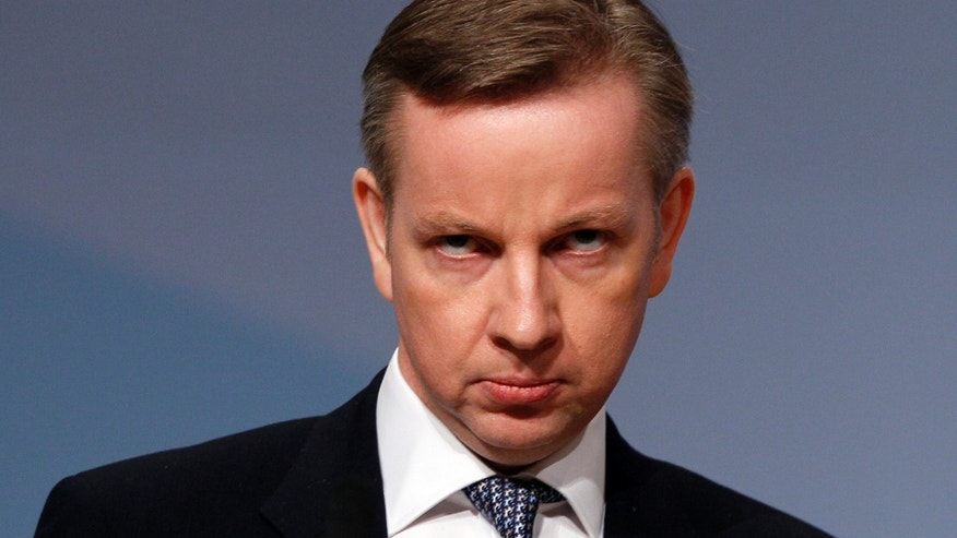 "Oct. 5, 2010 - FILE photo of Britain's Education Secretary Michael Gove. Gove has sparked a furor with his campaign to put the basics - and Britishness - back into schools. Longtime favorites like John Steinbeck's ""Of Mice and Men,""  and Harper Lee's ""To Kill a Mockingbird"" are off the syllabus - and critics say that could lead to the narrowing of British minds."