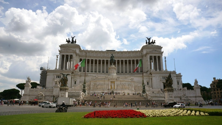 May 30, 2014 - Rome's Vittoriano Monument, The Unknown Soldier tomb. The museum at the Tomb will display previously unpublished World War I images and documents to commemorate the 100th anniversary of the country's involvement in the bloodshed.