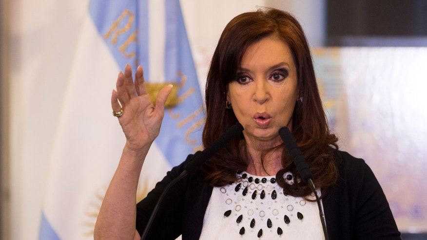 Argentine President Cristina Fernandez in a Feb. 12, 2014 file photo.