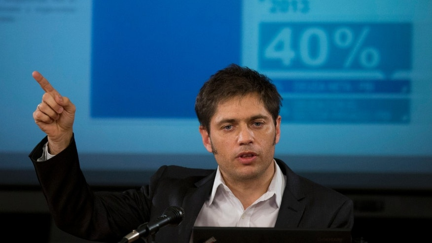 Argentina's Economy Minister Axel Kicillof during a news conference on June 17, 2014.