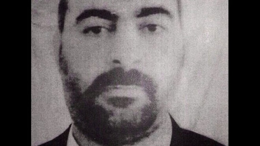 Undated file picture released on Wednesday Jan. 29, 2014, by the official website of Iraq's Interior Ministry claims to show Abu Bakr al-Baghdadi, leader of the Islamic State of Iraq and the Levant, or ISIS.