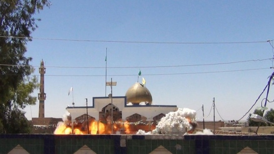 The Saad bin Aqeel Husseiniya shrine in the Iraqi city of  Tal Afar was one Mosque destroyed by the extremist group.