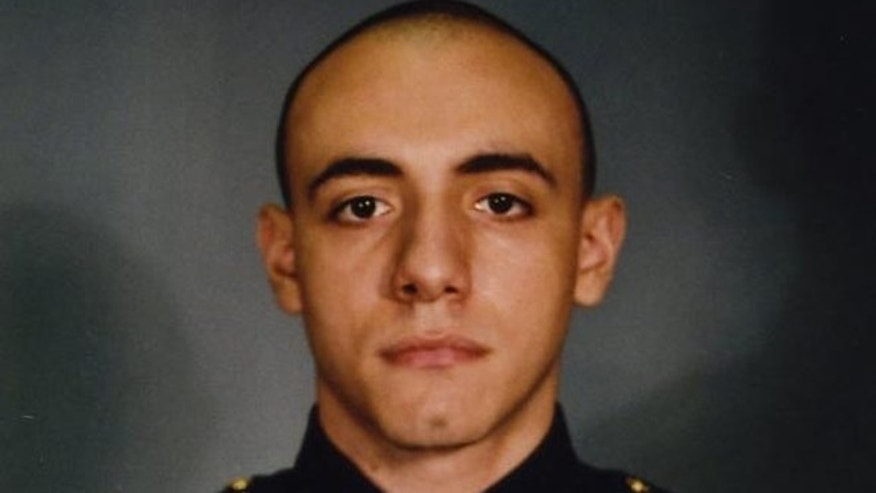 Jersey City police officer Melvin Santiago, 23, was shot in the head while still in his police vehicle as he and his partner responded to an armed robbery call at a Walgreens Pharmacy at about 4.a.m. Sunday, July 13.