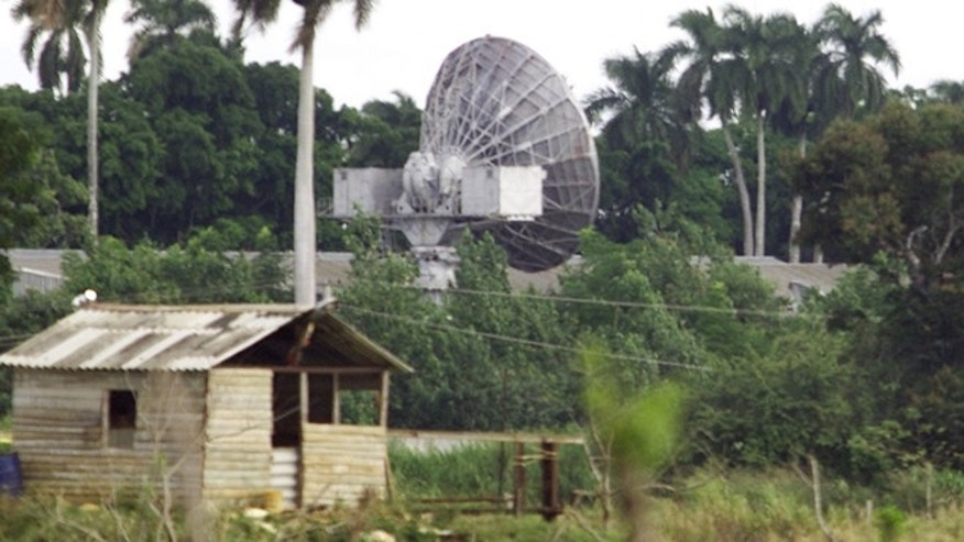 December 13, 2000: The secret Russian listening station at Lourdes some 19 miles south of Havana is seen in this file photo.