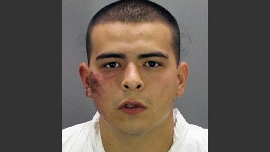 Booking photo of Jaime Ramos, 19, provided by the Stockton Police Department Thursday, July 17, 2014.