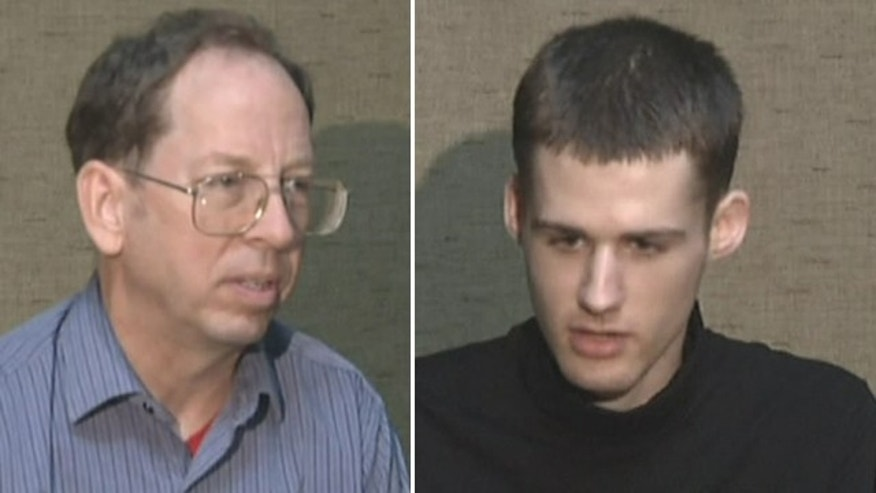 "Undated - American tourists Matthew Todd Miller (right) and Jeffrey Edward Fowle (left), held and charged with ""anti-state"" crimes in North Korea. The two were seen on Associated Press video Friday, saying they expected to be tried soon and pleading for help from the U.S. government to secure their release."