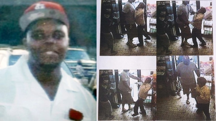 A suburban St. Louis police chief released documents alleging Michael Brown (left) was the primary suspect of a robbery in which he was suspected of stealing a $48.99 box of cigars and strong arming a clerk (right).