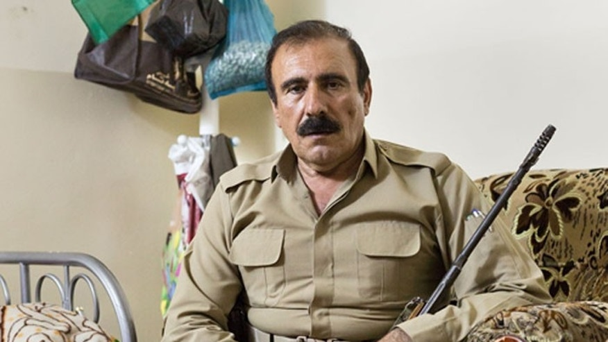 A portrait of Gen. Musla, taken at a peshmerga base located outside the Iraqi town of Toozkhurmatu.
