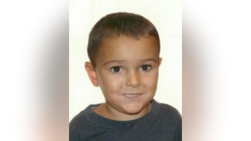 A copy of the photo released with a Yellow Notice issued by the international police force Interpol, Friday Aug. 29, 2014, asking for help to locate the missing five-year old boy Ashya King, who is believed to be in France. Police are searching for the five-year-old British boy who is suffering with a severe brain tumor whose parents, believed to be Jehovah's Witnesses, took him out of a British hospital on Thursday and were last seen in France.  The boy needs urgent medical treatment. (AP Photo/Interpol)