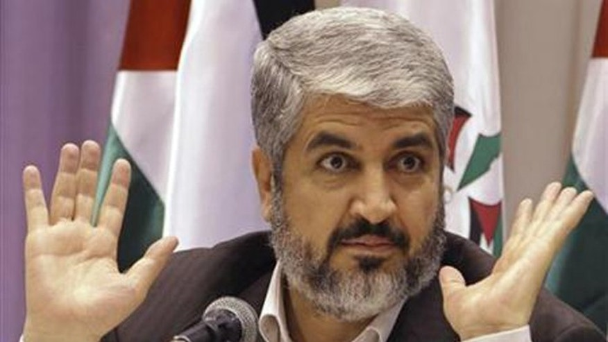 Khaled Meshal, the Qatar-based leader of Hamas, should face war crimes charges, says an Israeli human rights group. (Reuters)