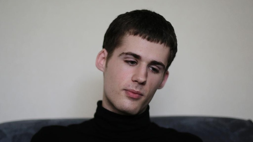 Sept. 1, 2014 FILE photo of American Mathew Miller in Pyongyang, North Korea. North Korea's state media announced that Miller, in custody since April, will be put on trial on Sunday, Sept. 14. The punishment could range from forgiveness and deportation to a lengthy sentence in prison with hard labor.