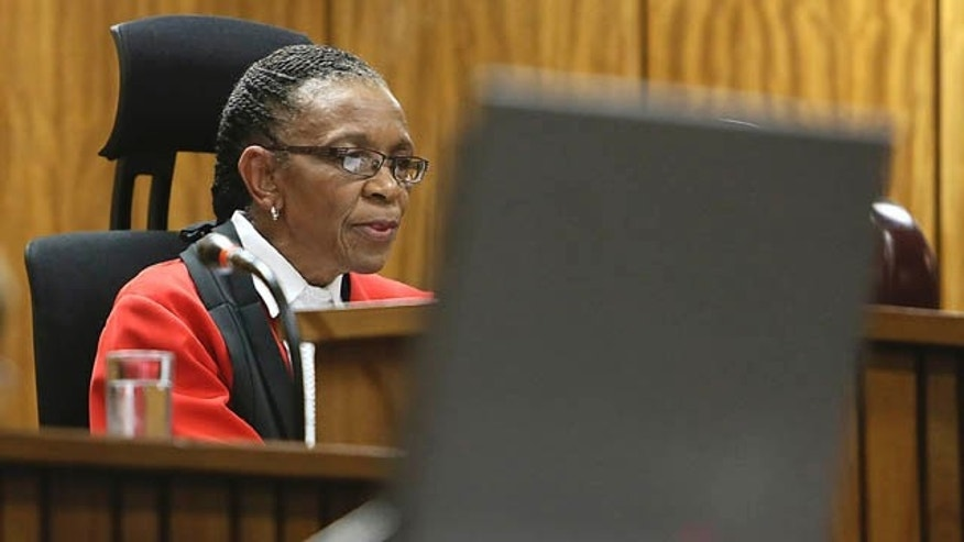 September 12, 2014: Judge Thokozile Masipa delivers her judgement  in court  in Pretoria, South Africa. Masipa ruled out a murder conviction for the double-amputee Olympian, Oscar Pistorius, in the shooting death of his girlfriend, Reeva Steenkamp, but said he was negligent, and convicted him of culpable homicide. (AP Photo/Alon Skuy, Pool)