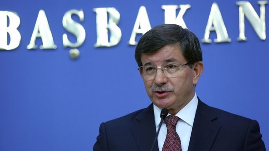 Aug. 29, 2014: Turkey's new Prime Minister Ahmet Davutoglu announces his cabinet ministers in Ankara, Turkey.