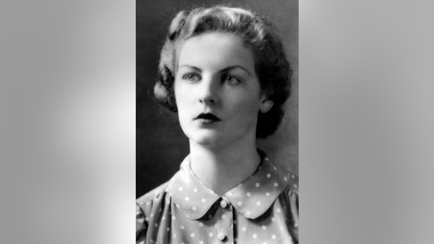 FILE - A June 1, 1941 photo from files of Deborah Mitford, the Dowager of Duchess of Devonshire in London. The last of the famous Mitford sisters, the Dowager Duchess of Devonshire, has died at the age of 94, her son said Wednesday Sept. 24, 2014. (AP Photo/PA, File) UNITED KINGDOM OUT  NO SALES  NO ARCHIVE