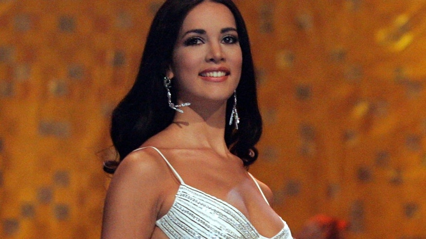 Miss Venezuela 2005, Monica Spear, during the Miss Universe competition in Bangkok, Thailand.