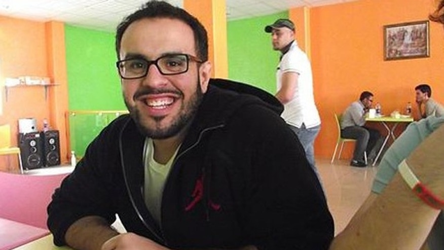 Mohamed​ Soltan, 26, is pictured here in an undated photo on a website devoted to his immediate release.