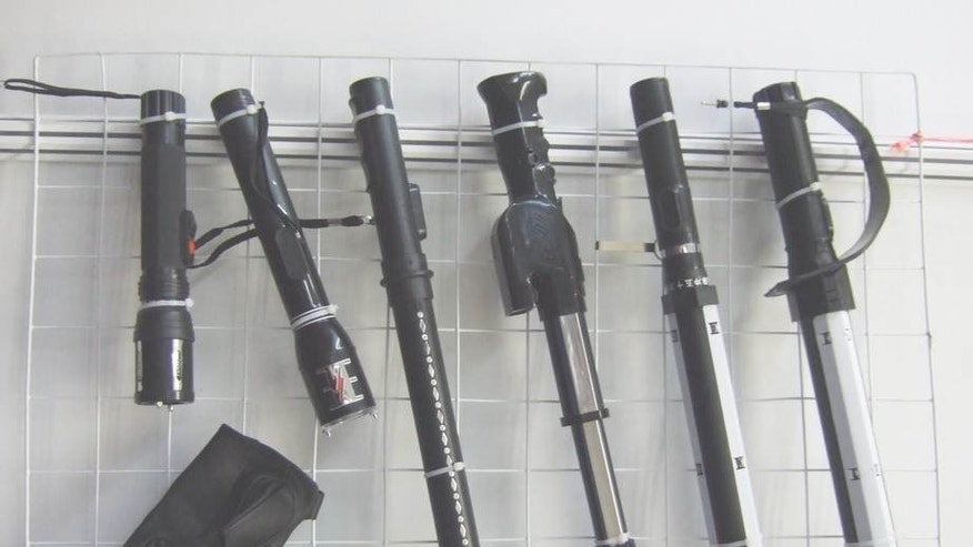 Electric shock batons, above, are inherently cruel and should be immediately banned by Chinese authorities, advocates say. (Courtesy: Amnesty International)