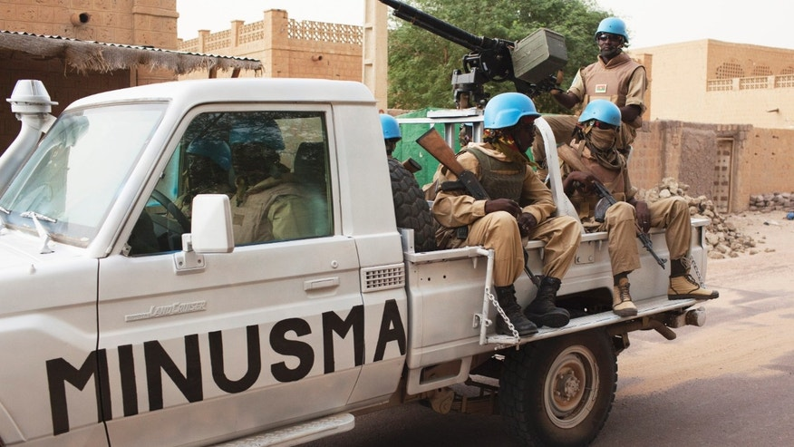 July 28, 2013 - FILE photo of UN peacekeepers from a Burkina Faso patrol in Timbuktu, Mali.