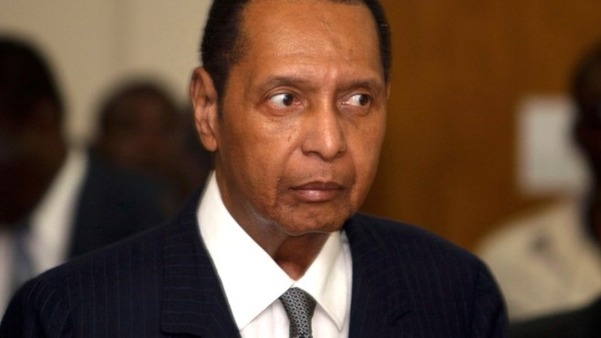 FILE 2013: Former Haitian dictator Jean-Claude Duvalier, known as 'Baby Doc' attends his hearing at court in Port-au-Prince, Haiti.