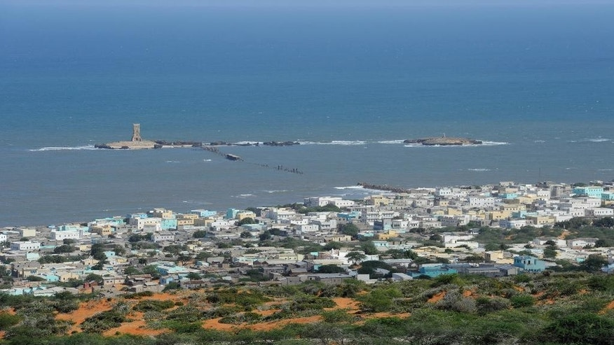 This photo taken Sunday, Oct. 5, 2014 and provided by the African Union Mission to Somalia (AMISOM), shows the al-Shabab stronghold of Barawe, a coastal town 220 kilometers (135 miles) southwest of Mogadishu, in Somalia. Officials in Somalia say AU and Somali troops have seized Barawe, the last major stronghold held by the Islamic militant group al-Shabab, with the AU claiming it as a significant victory because al-Shabab had used the port to bring in arms and fighters and export charcoal, a multi-million-dollar business. (AP Photo/AMISOM, Tobin Jones)