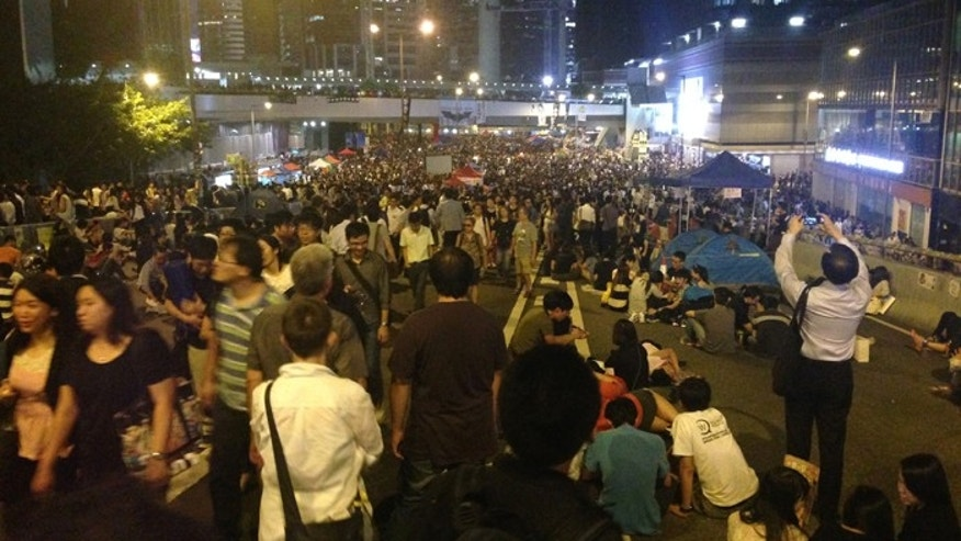 Thousands of protesters returned to the streets to demand free elections in Hong Kong Friday. (FoxNews.com)