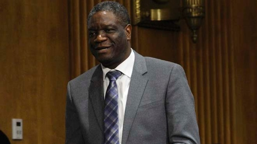 Feb. 26, 2014: European lawmakers have awarded their top human rights prize to Congolese gynecologist Denis Mukwege who campaigns against sexual violence targeting women in war