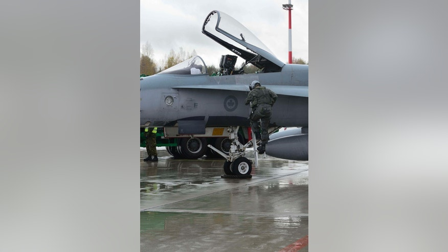 Oct. 20, 2014: Two Canadian F-18 Hornet jets were scrambled from the Siauliai Air Base in Lithuania on Monday to intercept a Russian Ilyushin-20 surveillance aircraft, which they shadowed for some 15 minutes, NATO said