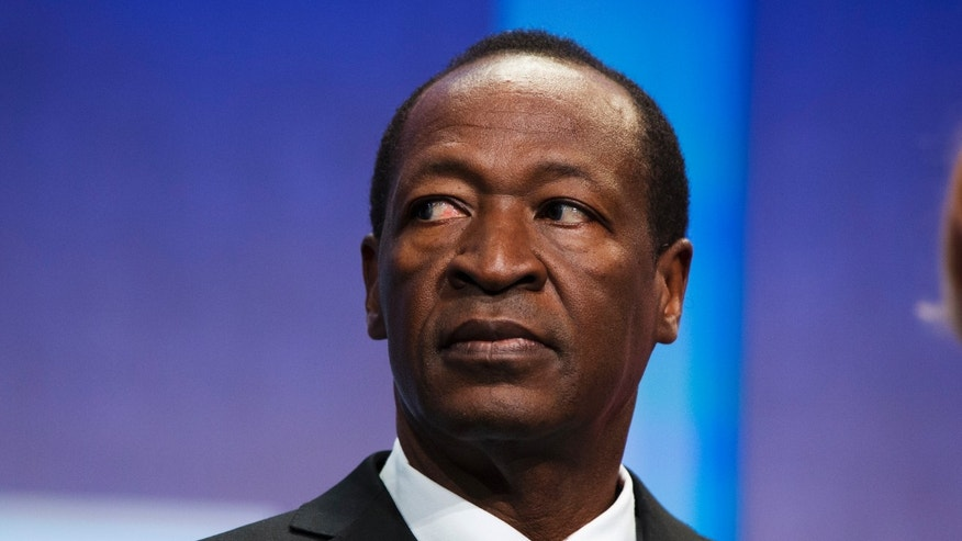 September 26, 2013 - FILE photo of President of Burkina Faso, Blaise Compaore, at the Clinton Global Initiative in New York. After 27 years in power, Compaore said in statement Friday that he has stepped down after anti-government protests demanding his ouster.