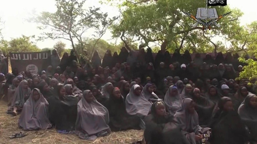 May 12, 2014: File image taken from video by Nigeria's Boko Haram terrorist network, shows the alleged missing girls abducted from the northeastern town of Chibok.