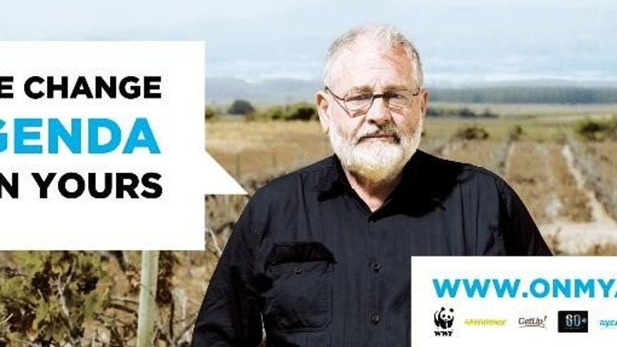 In this undated image provided by the World Wildlife Fund a copy of a billboard ad is shown. The environmentalists' plan to confront world leaders attending the annual G20 summit with the digital billboard highlighting climate change has been thwarted, Monday, Nov. 3, 2014, by Brisbane airport authorities who deemed the message too political. Brisbane Airport will be the Australian gateway for leaders of 20 economies when they gather in the Queensland state capital next week for the annual G20 summit. (AP Photo/World Wildlife Fund)