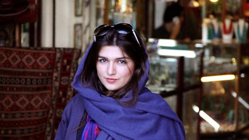 "This 2011 photo provided by the Free Ghoncheh Campaign, shows Iranian-British Ghoncheh Ghavami in Isfahan, Iran. Ghavami detained while trying to attend a men's volleyball game has been sentenced to one year in prison, her lawyer said Sunday, Nov. 2, 2014. Mahmoud Alizadeh Tabatabaei told The Associated Press that a court found Ghavami, 25, guilty of ""propagating against the ruling system."" (AP Photo/Free Ghoncheh Campaign)"
