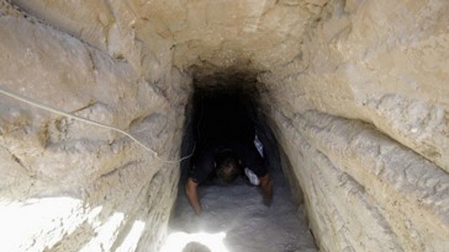 As Egypt begins sealing smuggling tunnels after the Sinai attack which killed 30 soldiers. (Reuters)