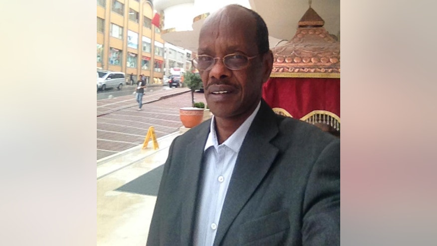 This photo taken Wednesday, June 4, 2014, and provided by the family of Abdullahi Ali Anshur, 60, shows the Somali-American from Minnesota in Istanbul, Turkey.  Gunmen shot and killed Abdullahi Ali Anshur, an engineer from Minnesota who had left a well-paying job in the U.S to help the fledgling Mogadishu city government with urban planning and drainage systems, a Somali official and relative said Wednesday, Nov. 19, 2014. (AP Photo/Family of Abdullahi Ali Anshur)