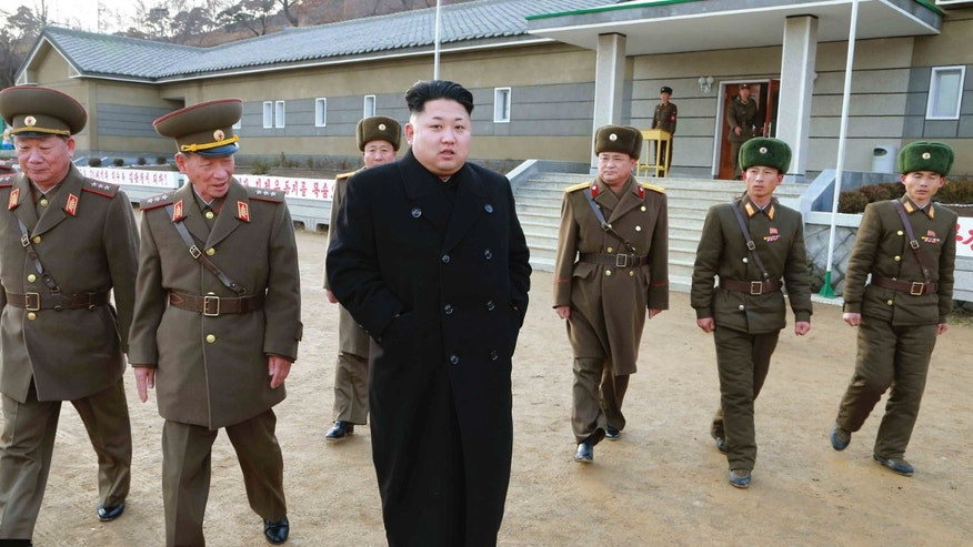 Dec. 2, 2014: North Korean leader Kim Jong Un inspects the Artillery Company under the Korean People's Arm