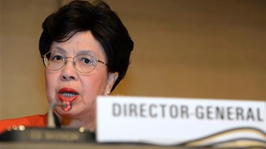 China's Margaret Chan, Director General of the World Health Organization, WHO, speaks during the WHO's high level meeting on building resilient systems for health in Ebola affected countries, in Geneva, Switzerland, Wednesday, Dec. 10, 2014. (AP Photo/Keystone, Martial Trezzini)
